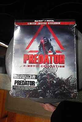 Brand New/Sealed Limited Edition Blu-Ray Steelbook! Predator 3 Movie Collection!
