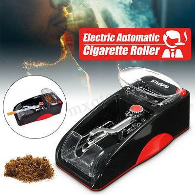 Automatic Cigarette Machine Injector Rolling Maker+Electric Grinder Herb Crusher