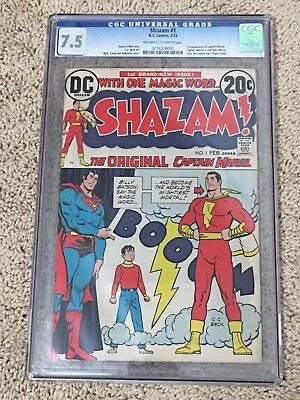 Shazam! #1 - CGC 7.5 - 1st Appearance Of Captain Marvel Since The Golden Age