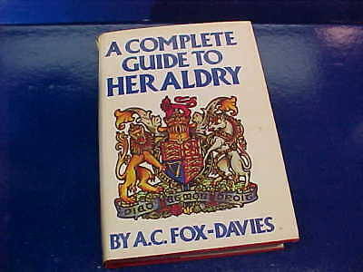 1978 COMPLETE GUIDE To HERALDY Hard Cover BOOK w DJ English + Scot COAT OF ARMS