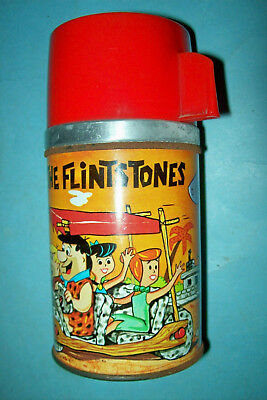 Vintage 1962 The Flintstones Thermos by Aladdin    Nice Condition  Free Shipping