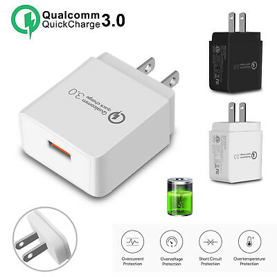 QC 3.0 Fast Charger Adapter USB Wall Charger Portable Travel Phone Charger Plug