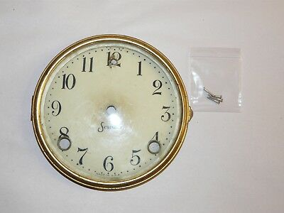Dial with Glass & Bezel for Antique USA 1900 SESSIONS Mantle Clock Used Genuine