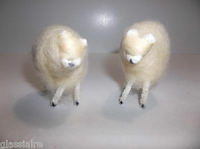 Vintage Wooly SHEEP Christmas Ornament NATIVITY Figures