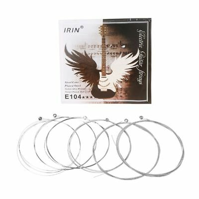 6pcs E104 Electric Guitar Strings 008-038 Plated Steel Core Nickel Alloy Wound