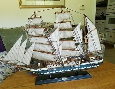 "1831 Reliance  32"" large wood model ship Transported Convicts"