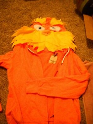 RARE  Dr. Seuss The LORAX Hoodie zip jacket NWT by twisted sz L  Soul Halloween