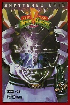 Mighty Morphin Power Rangers Issue #25 Black Ranger Variant Shattered Grid BOOM!