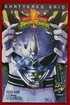 Mighty Morphin Power Rangers Issue #25 Blue Ranger Variant Shattered Grid BOOM!