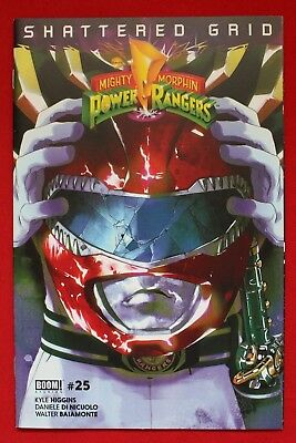 Mighty Morphin Power Rangers Issue #25 Red Ranger Variant Shattered Grid BOOM!