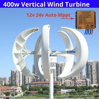 400w 12v 24v AC 3Phase vertical wind turbine for home and streetlights