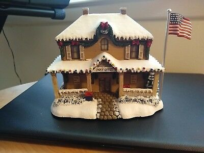 Thomas Kinkade Hawthorne Village-- Post Office--Lighted