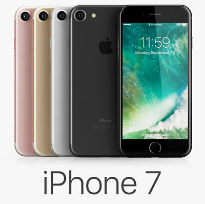 Apple iPhone 7 4G LTE (Unlocked) 128GB Smartphone 1-Year Warranty USED