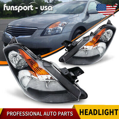 2x Headlight Clear Housing Lens Amber Reflector for 2007 2008 2009 Nissan Altima