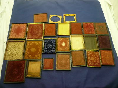 24 Pc. LOt of Vintage Repair Parts for Cased Images- Tintypes, Ambrotypes, Etc.