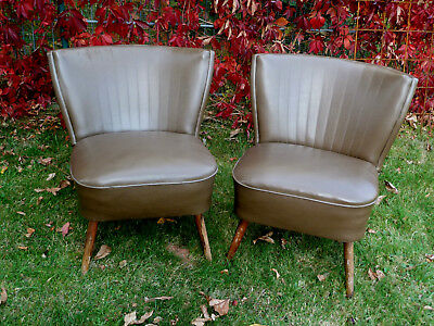 Mid Century 50s Sessel Cocktailsessel 50er 60er Rockabilly easy chair Kunstleder