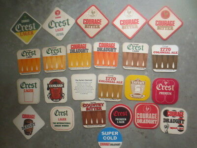 24 Different COURAGE BREWERY,Victorian, BEER COASTERS 1970,s Issue