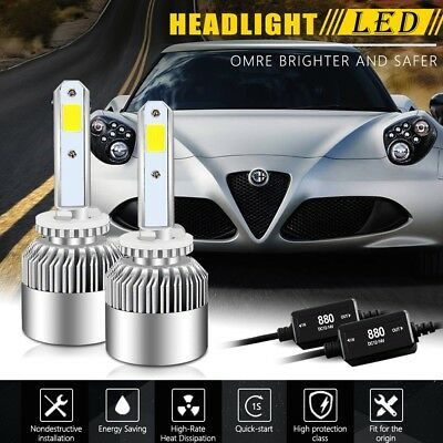 Pair 880 led Headlight Kit 160W 16000LM White High Power FOR Nissan Armada GMC