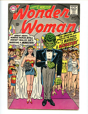 Wonder Woman 155 Solid VG+ monster wedding cover