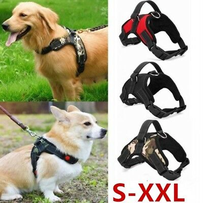Adjustable No Pull Puppy Dog Harness Reflective Breathable Strong Padded Vest UK