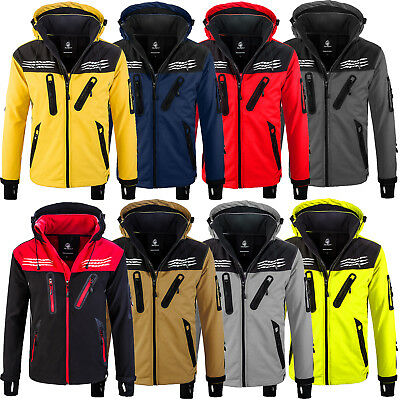 Rock Creek Herren Softshell Jacke Windbreaker Wanderjacke Übergangs Jacke H-159