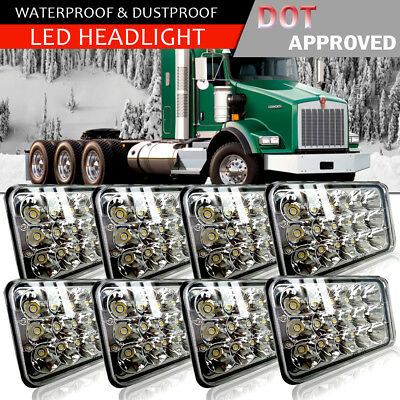 8PCS LED Headlights Fit Kenworth T400 T600 T800 W900L Classic 120/132