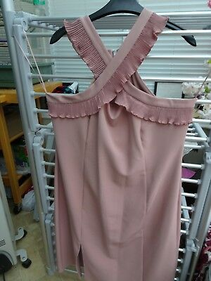 Next Cocktail Dress,  Dusty Pink Knee Length - Brand New With Tags (Size 18-20)