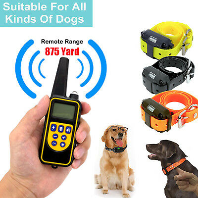 Dog Shock Training Collar Electronic Remote Waterproof 880 Yards For 1/2/3 Dogs