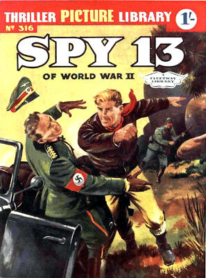 THRILLER PICTURE LIBRARY No.316 - SPY 13 OF WORLD WAR II  Facsimile Comic