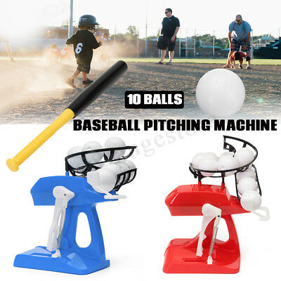 AU Kids Baseball Softball Pitching Batting Machine Training Practice Launcher