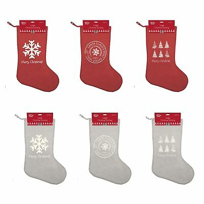 Large Merry Christmas Stocking Xmas Gift Present Bag Accessory 65x45cm