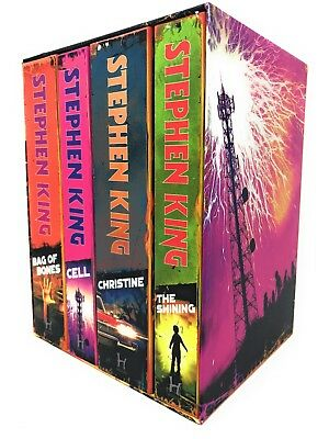 Stephen King A Classic Collection 4 Books Set, Bag Of Bones, Cell, Christine ...