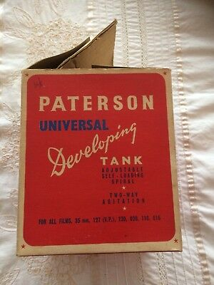 Vintage Paterson Universal Film Developing Tank in original box with instruction