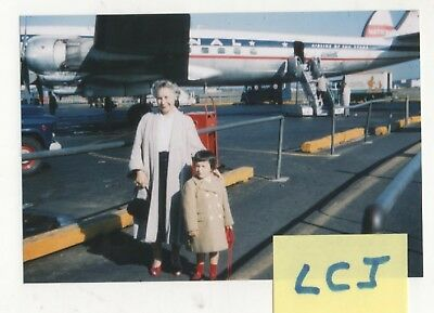 Reprint Photo National Airline DC-7 Being Boarded