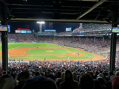 2 Infield Grandstand Tickets Boston Red Sox vs Houston Astros 10/21 ALCS Game 7