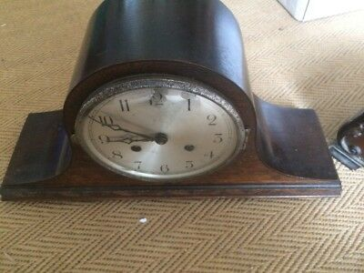Napoleon style wood cased Mantel Clock - Spare/Repair or Creative Project