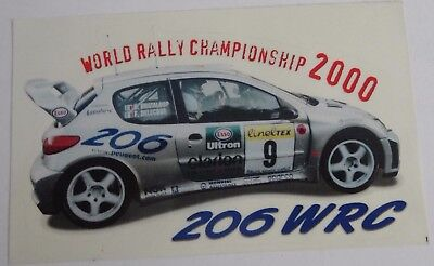 Aufkleber WRC 2000 World Rally Championship PEUGEOT 206 Delecour Sticker