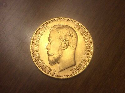 1904 Russian 5 Roubles Gold Coin @@ Must see @@ lot A3
