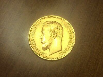1904 Russian 5 Roubles Gold Coin @@ Must see @@ lot A4