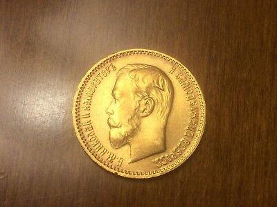 1904 Russian 5 Roubles Gold Coin @@ Must see @@ lot A5