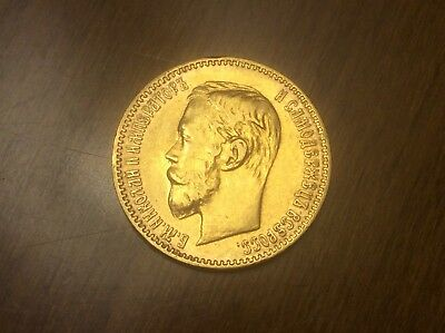 1900 Russian 5 Roubles Gold Coin @@ Must see @@ lot A6
