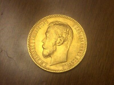 1900 Russian 5 Roubles Gold Coin @@ Must see @@ lot A7