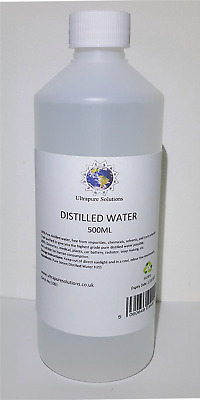 PURE DISTILLED WATER - 500ml - Ultrapure Filtered