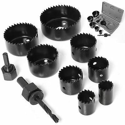 11Pc HEAVY DUTY HOLE SAW CUTTER KIT 19,22,28,32,38,44,51,64mm Round Drill Set