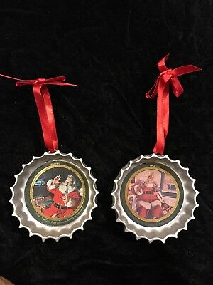 Vintage Reproduction Coca-Cola Bottle Cap Christmas Ornament 1991 And 1993