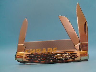 Schrade Uncle Henry Stockman pocket knife 3 blade 834UH Free Shipping in USA