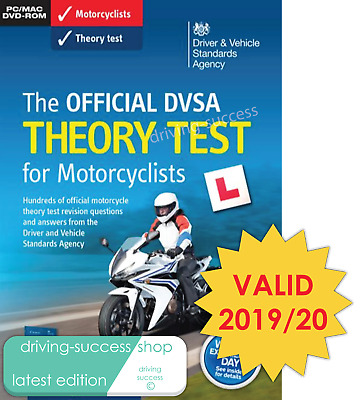 Official DVSA Motorbike/Motorcycle Theory Test DVD for PC and MAC FOR 2019