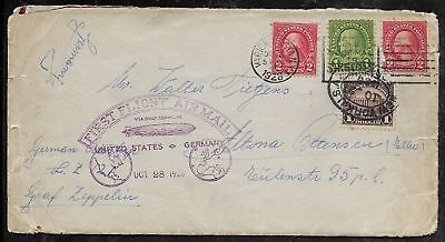 1928 LZ127 GRAF ZEPPELIN Flown Cover New York City to Germany