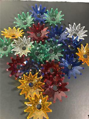Lot 20 Vintage MIxed Color Christmas Tree Light Bulb Reflector Covers
