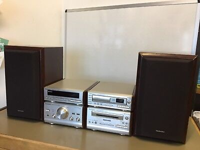 Technics Stereo Tuner ST-HD81/ Compact Disc SL-HD81/cassette Deck RS/ Stereo Amp